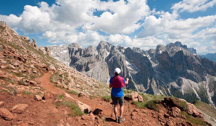 Le massif du Rosengarten dans les Dolomites, Italie