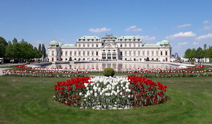 Le palais du Belvédère à Vienne, Autriche