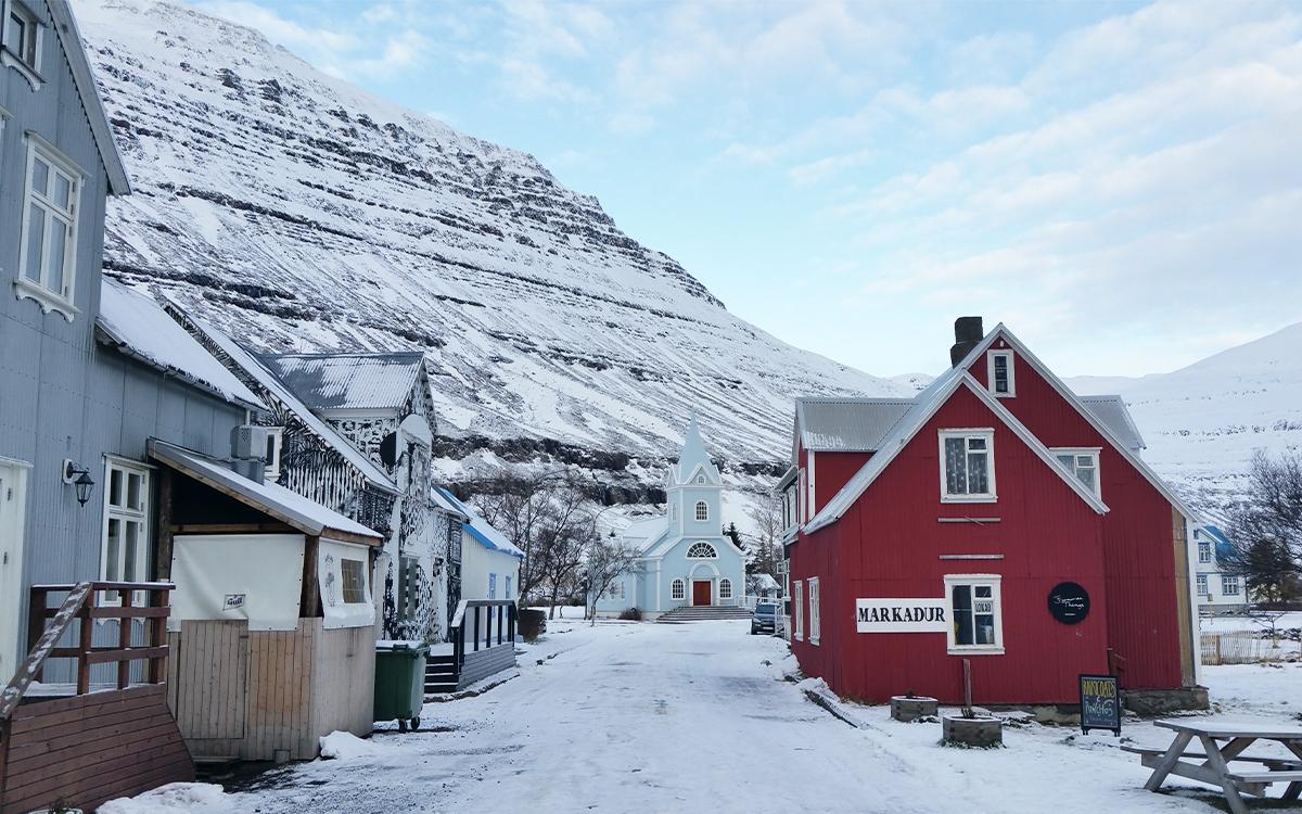 Village Seyðisfjörður en Islande