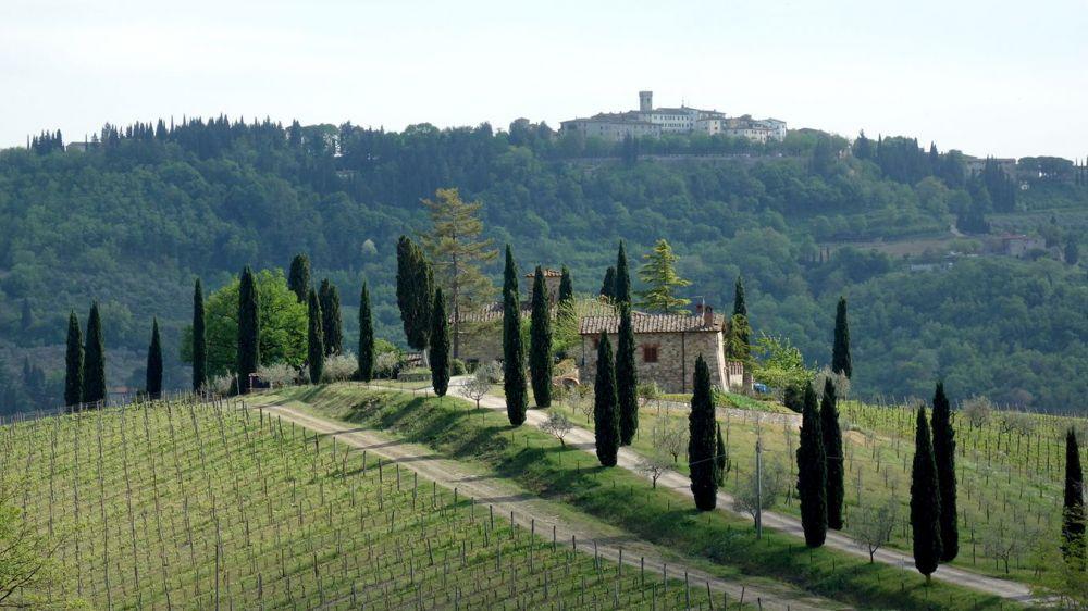 Image Collines toscanes en terre de Sienne