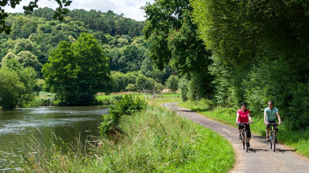Image La Vélodyssée, le canal de Nantes à Brest