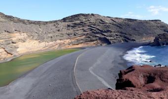 Plage d'El Golfo sur l'île de Lanzarote