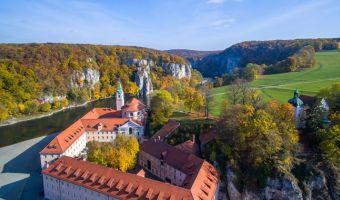 Abbaye de Weltenbourg et le Danube en Allemagne