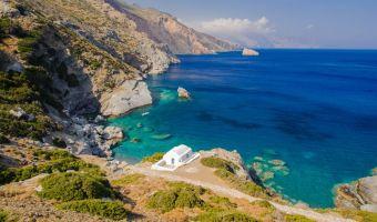 Chapelle d'Agia Anna sur l'île d'Amorgos