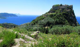 Angelókastro sur l'île de Corfou en Grèce