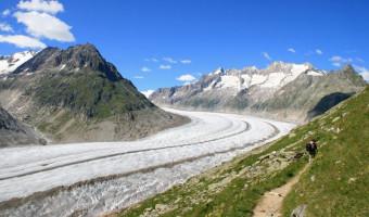Le glacier d'Aletsch en été, Suisse