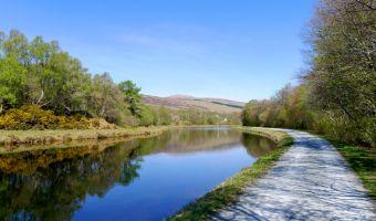La Great Glen Way et la canal calédonien à Torcastle