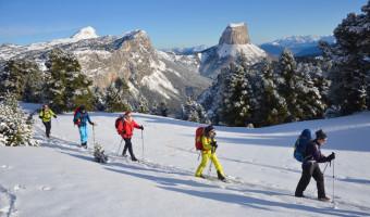 Groupe de skieurs dans le Vercors
