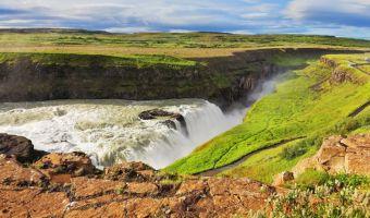 La chute de Gullfoss en Islande
