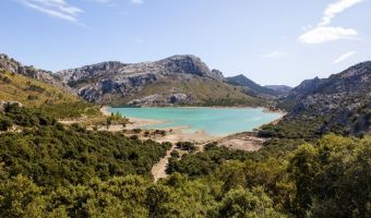 Le lac de Cúber dans la serra de Tramuntana, île de Majorque
