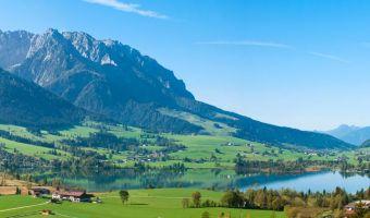 Le lac de Walchsee dans le Tyrol, Autriche