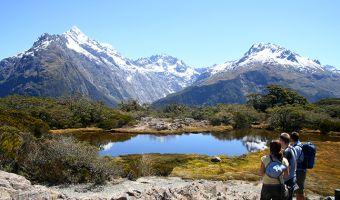 Le lac Marian en Nouvelle-Zélande