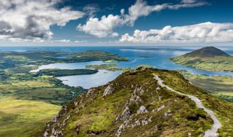 Parc national du Connemara, vue depuis le Diamond Hill