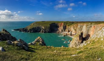 Paysage du parc national côtier du Pembrokeshire