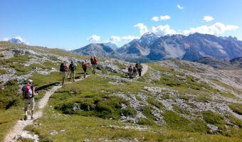 Randonnée guidée sur les Dolomites de Cristal