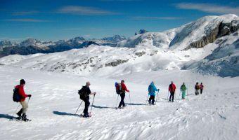 Randonnée en raquettes dans les Dolomites