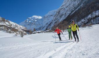 Initiation au ski de fond à Bessans