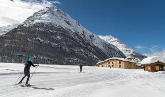 Ski de fond skating à Bessans