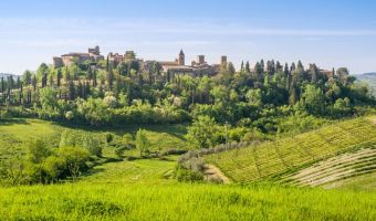 La vieille ville de Certaldo Alto en Toscane, Italie