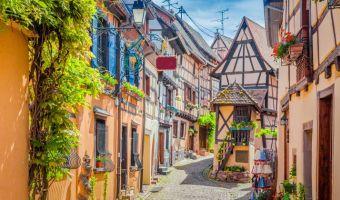 Voyage à pied : France : L\'Alsace entre vignobles et  villages médiévaux