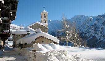 Village de Saint-Véran en hiver