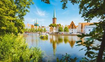La ville de Lübeck en Allemagne