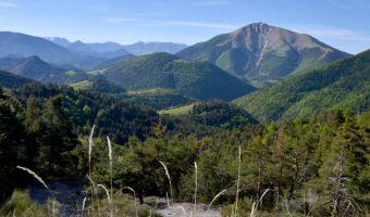 Vue sur le Blayeul dans le massif des Monges