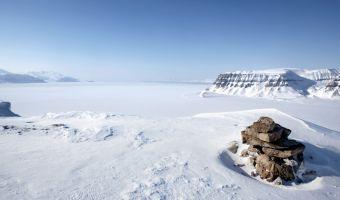 Vue sur les fjords de Sassenfjorden et Tempelfjorden