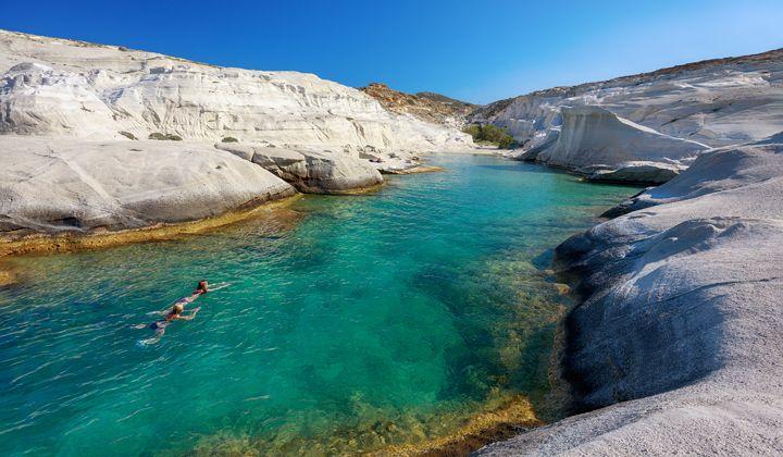 Baie de Sarakiniko, île de Milos, Cyclades