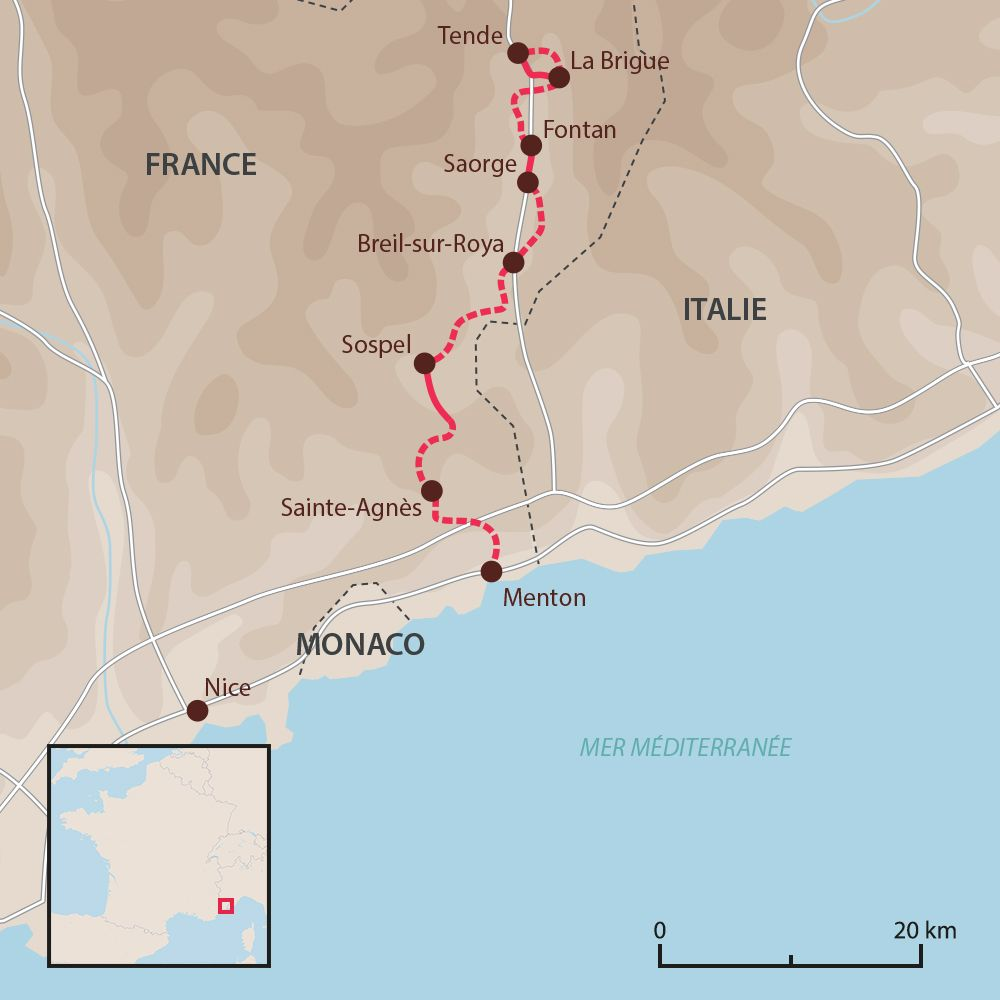 La Vallée de la Haute-Roya, de Tende à Menton