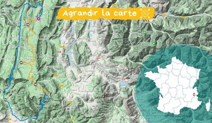 Itinéraire de la Grande Traversée du Vercors en ski de fond