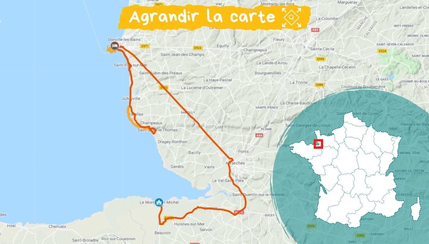 Itinéraire Réveillon dans la baie du Mont-Saint-Michel