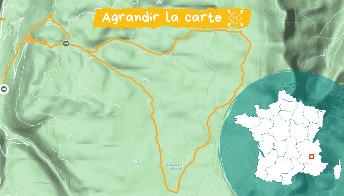 Carte Réveillon et Igloo sur les hauts plateaux du Vercors