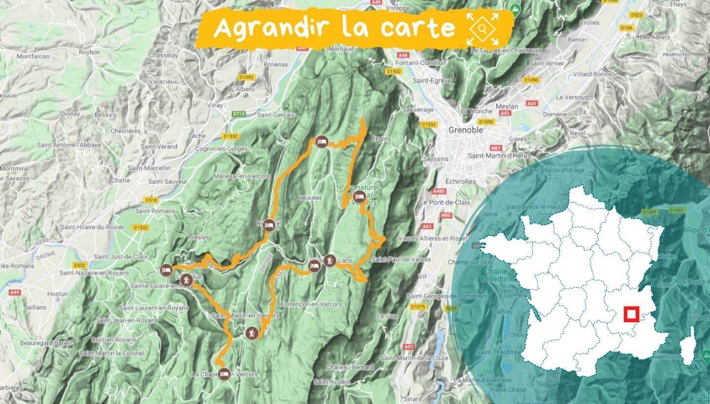 Itinéraire Tour du Vercors