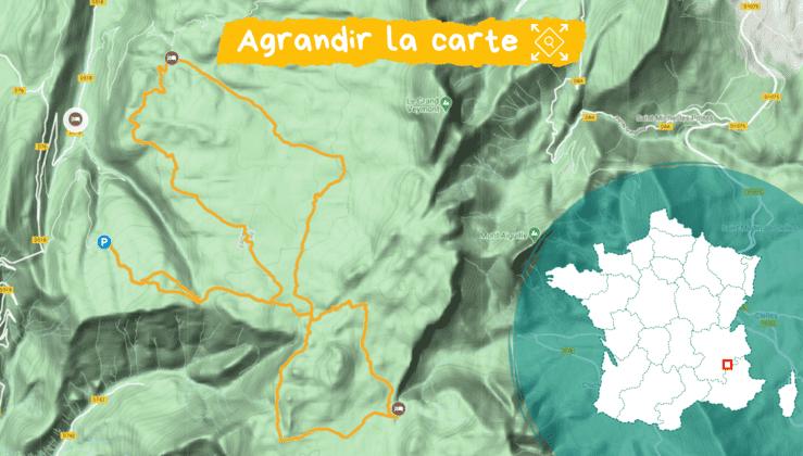 Itinéraire Traversée des Hauts Plateaux du Vercors