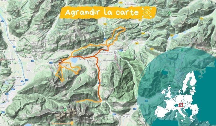 Carte Tyrol : randonnées et remise en forme à Walchsee