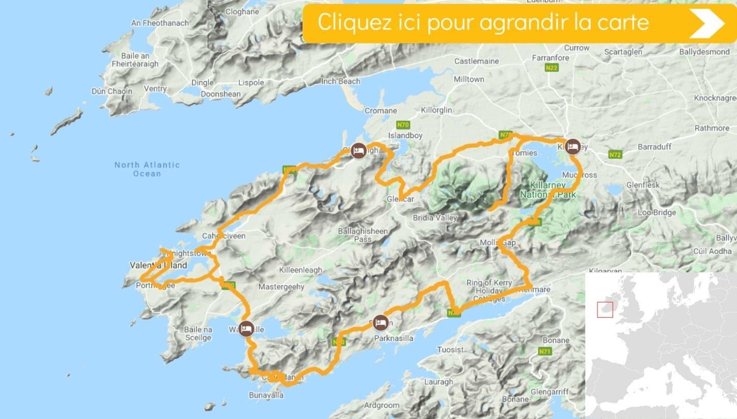 Carte Les Côtes du Kerry