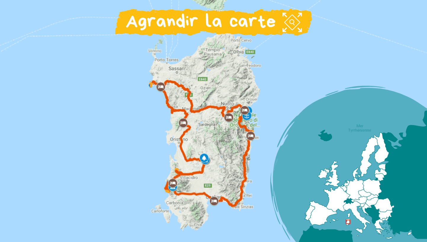 Carte Sentiers de Sardaigne