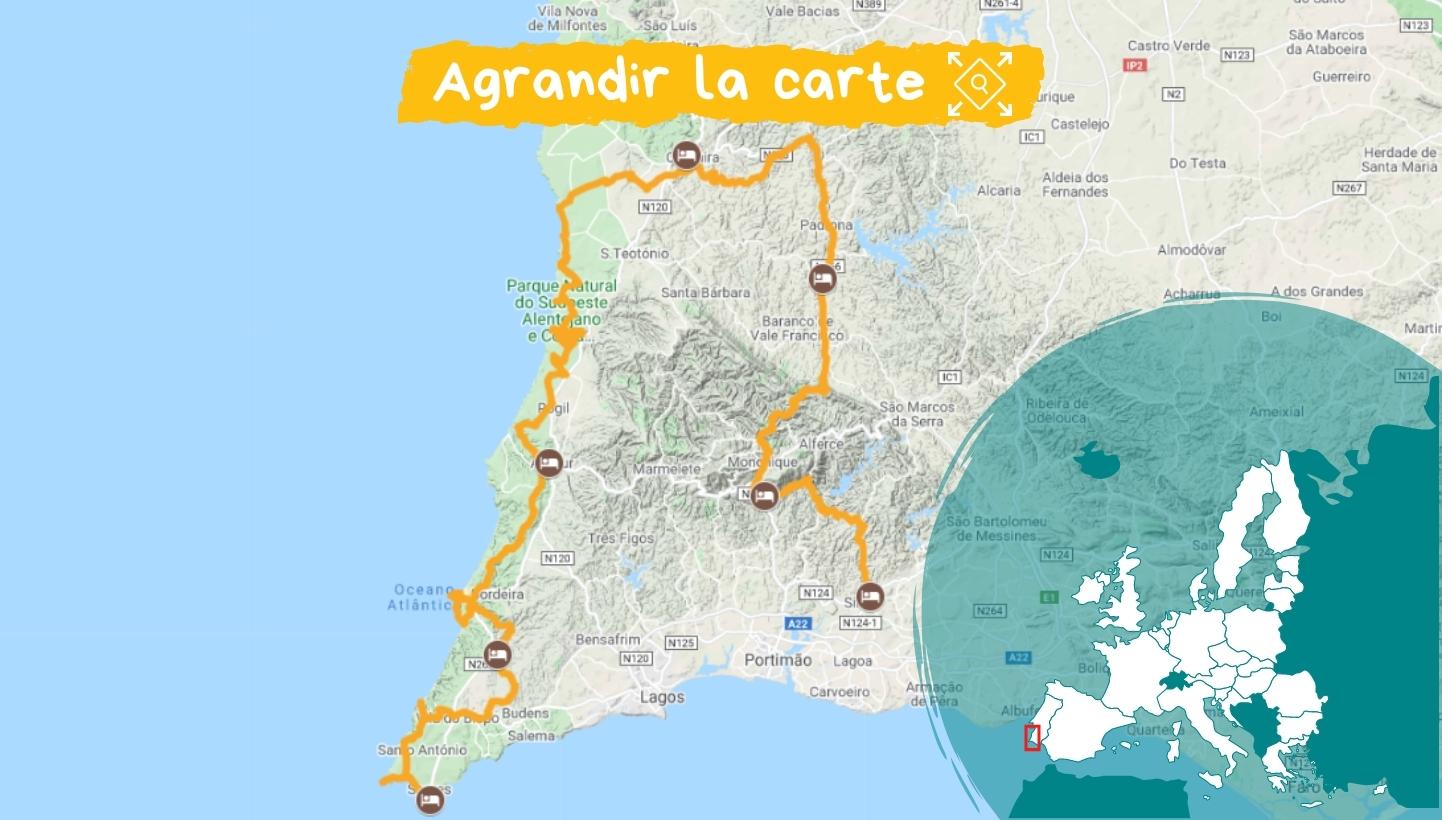 Itinéraire Algarve, des montagnes à la mer