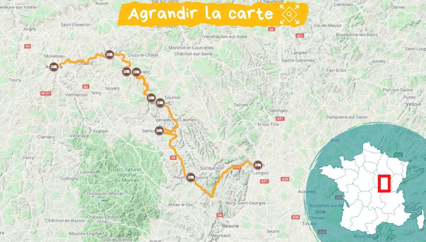Itinéraire Canal de Bourgogne