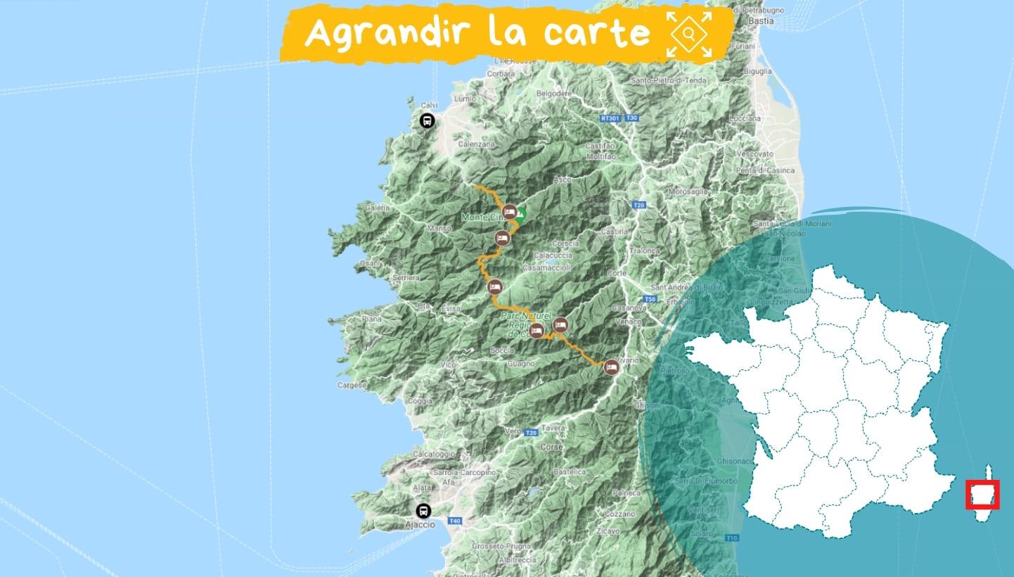 Itinéraire Corse le GR20 Nord sans portage