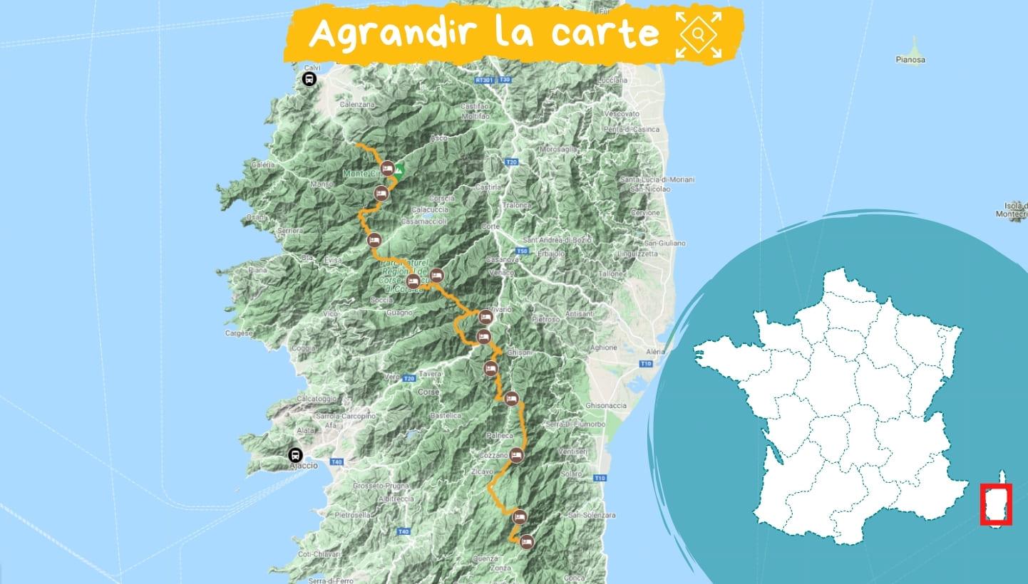Itinéraire Corse : le GR20 Sud et Nord sans portage