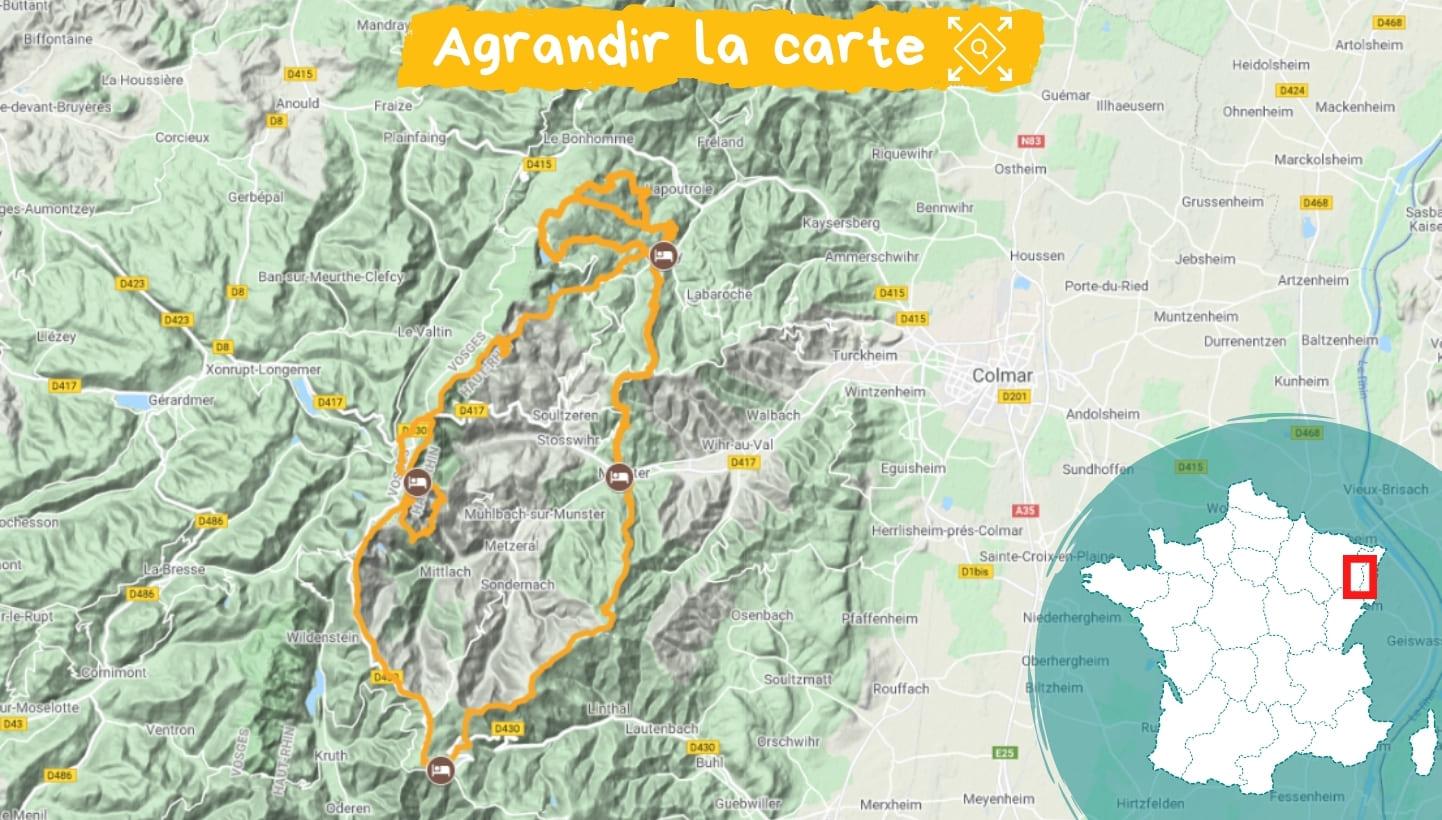 Itinéraire crètes, lacs et ballons des Vosges