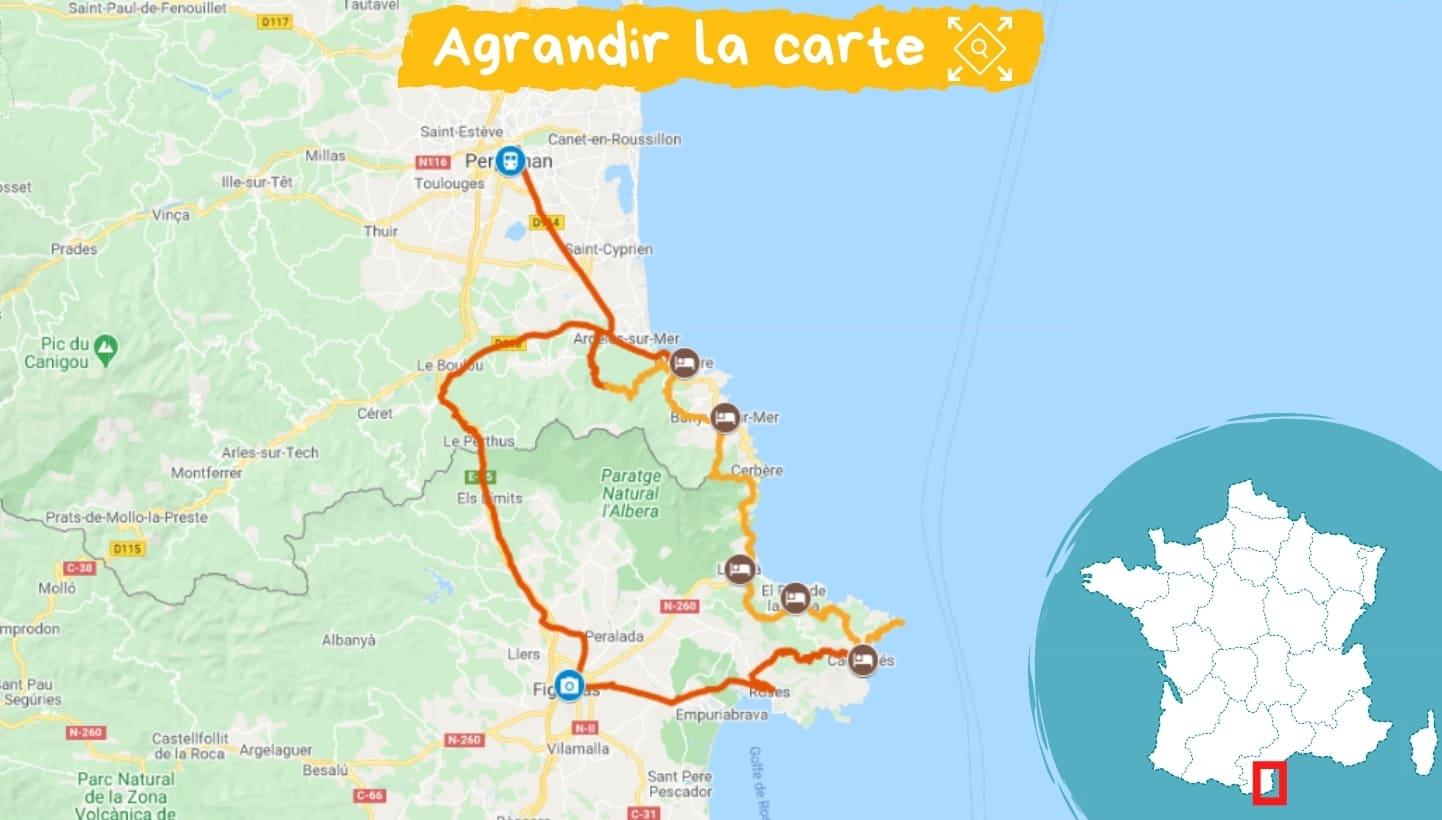 Itinéraire de Collioure à Cadaqués, entre mer et montagne