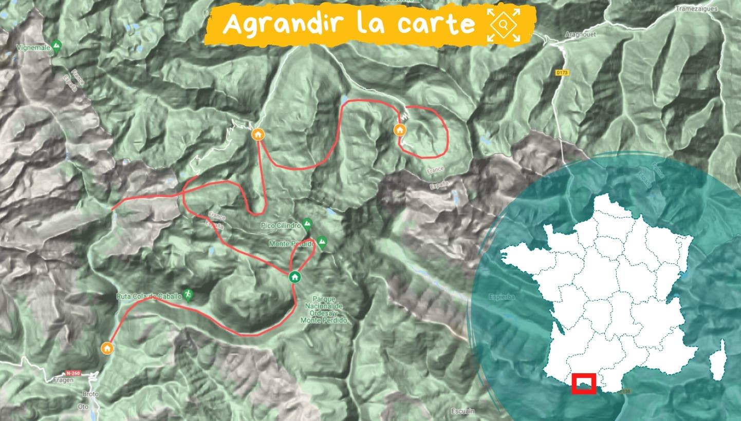 Itinéraire de Gavarnie à Ordesa