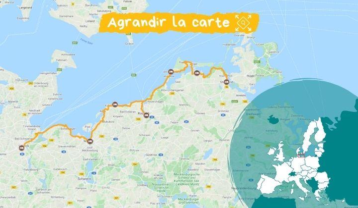 Itinéraire de Lübeck à Stralsund, les côtes de la Baltique