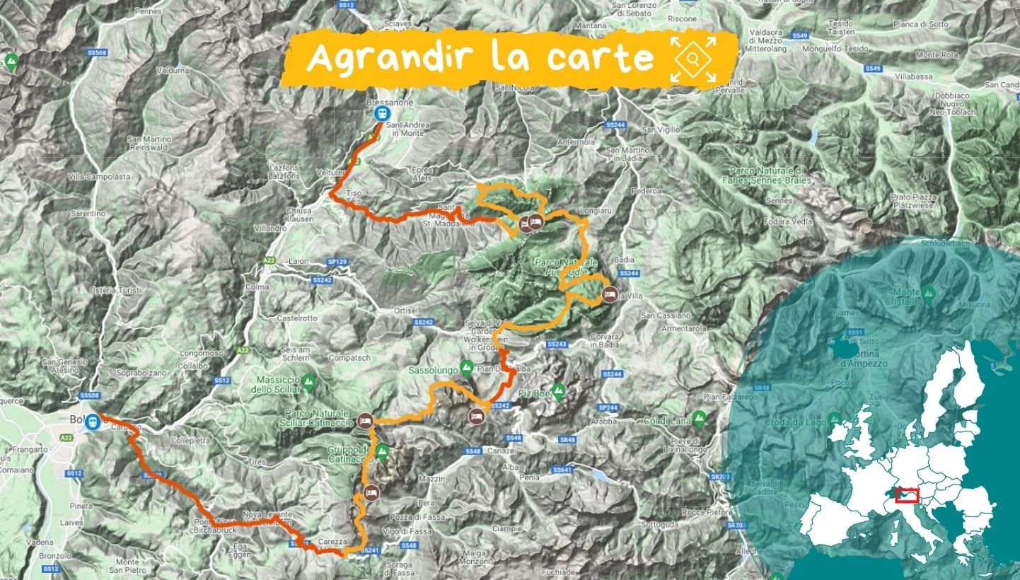 Itinéraire Dolomites fantastiques