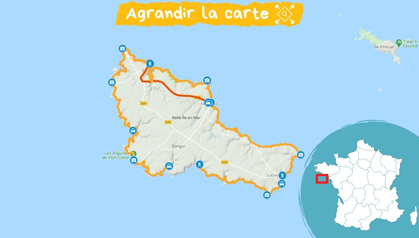 Itinéraire du Tour de Belle-Ile-en-Mer