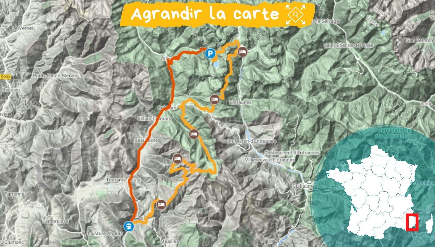 Itinéraire Haut-Verdon et Val d'Entraunes, Retrouvance®