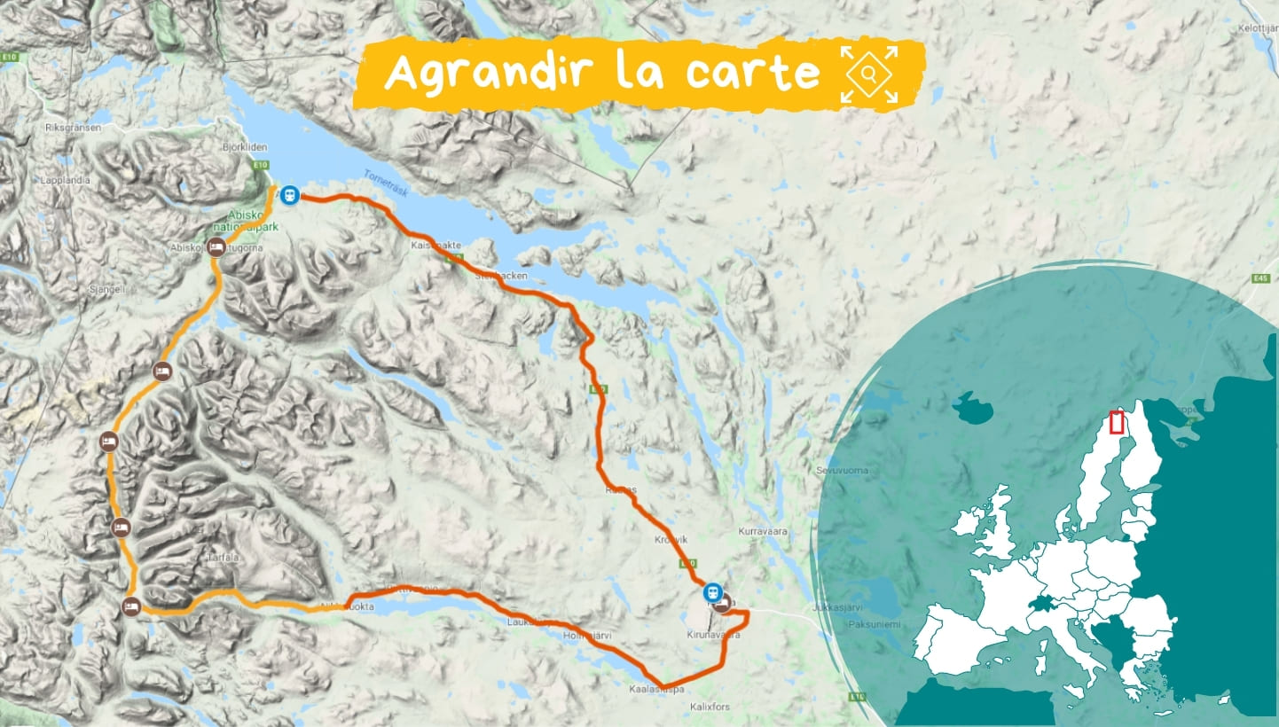 Itinéraire Kungsleden : voie Royale en Laponie
